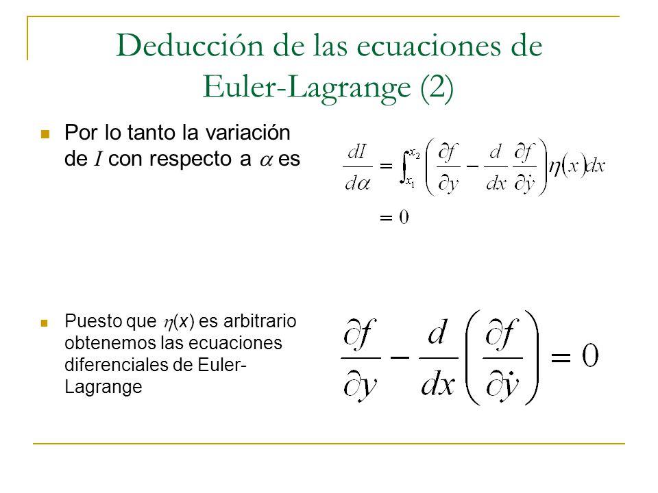 Deducción de las ecuaciones de Euler-Lagrange (2)