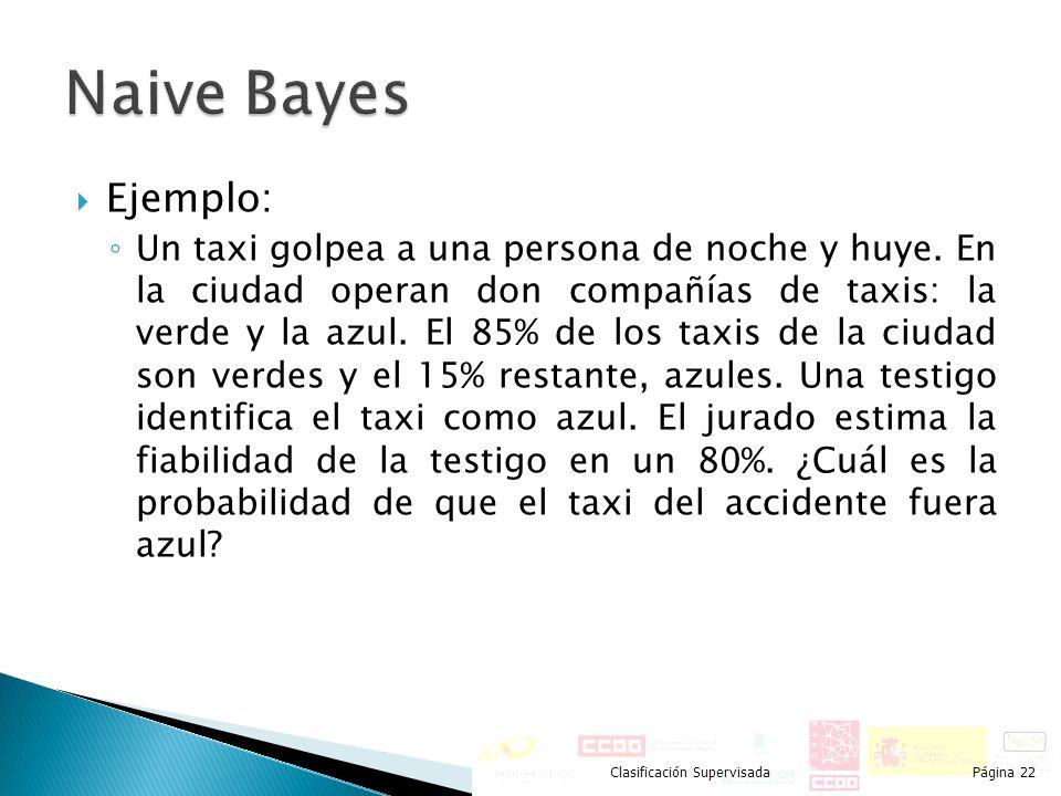 Naive Bayes Ejemplo: