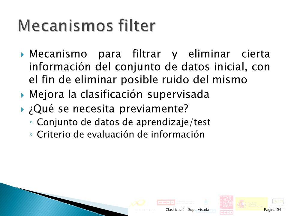 Mecanismos filter