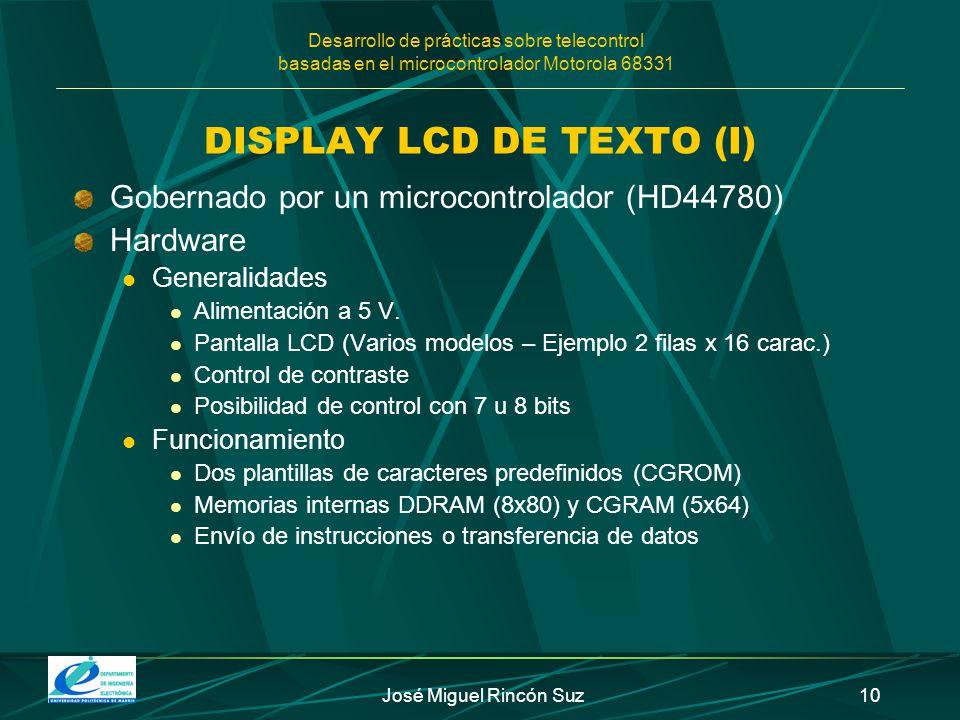 DISPLAY LCD DE TEXTO (I)