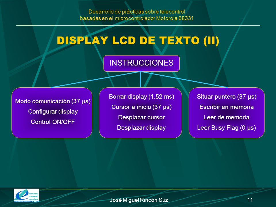 DISPLAY LCD DE TEXTO (II)