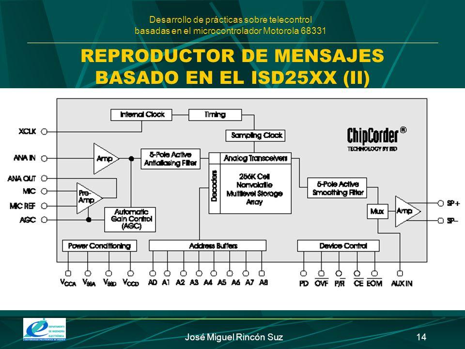 REPRODUCTOR DE MENSAJES BASADO EN EL ISD25XX (II)