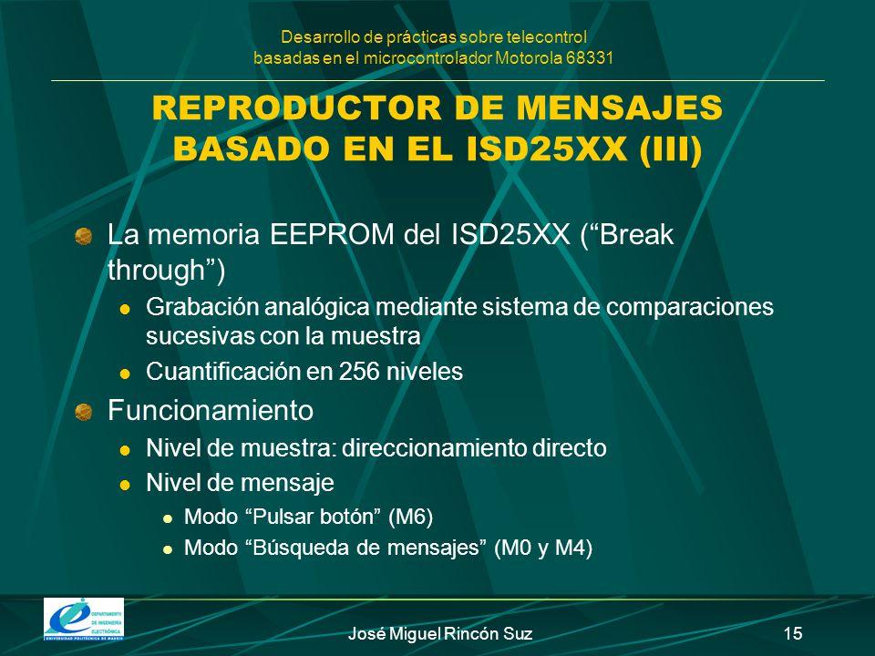 REPRODUCTOR DE MENSAJES BASADO EN EL ISD25XX (III)