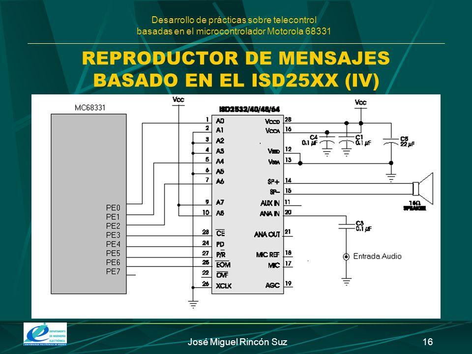 REPRODUCTOR DE MENSAJES BASADO EN EL ISD25XX (IV)