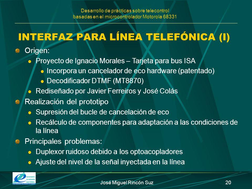 INTERFAZ PARA LÍNEA TELEFÓNICA (I)