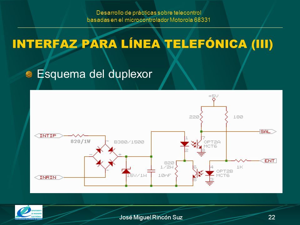 INTERFAZ PARA LÍNEA TELEFÓNICA (III)