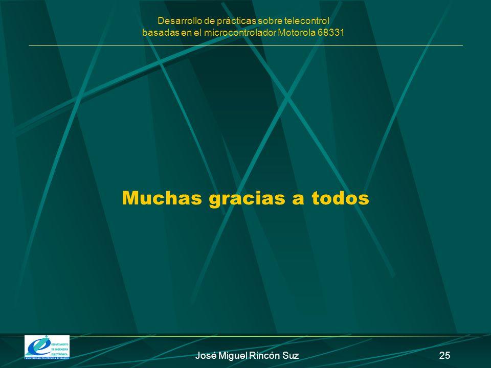 Muchas gracias a todos José Miguel Rincón Suz