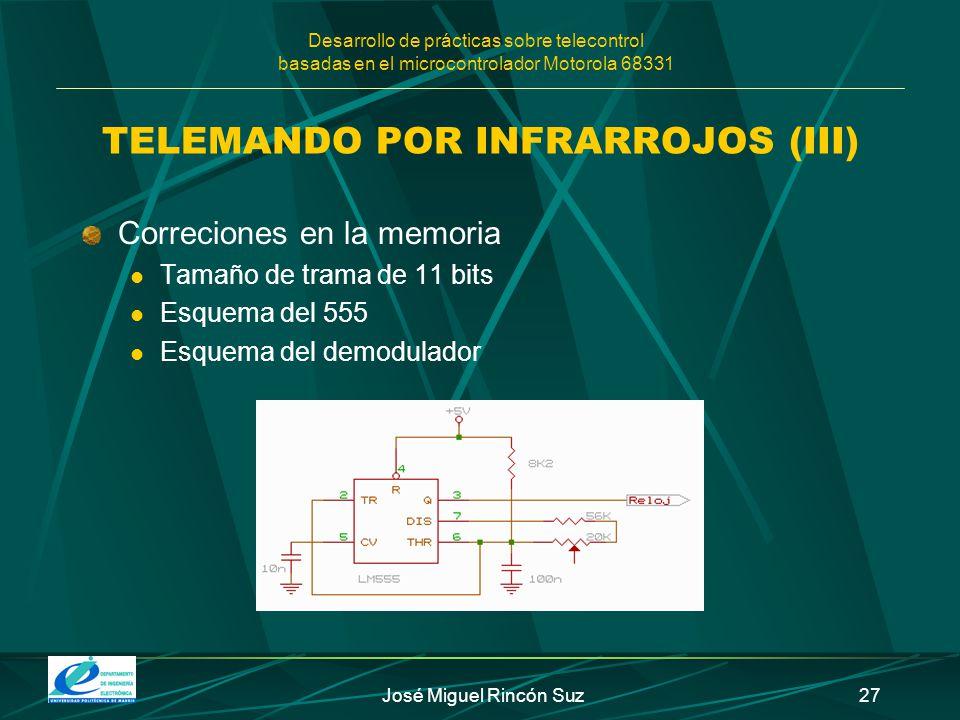 TELEMANDO POR INFRARROJOS (III)