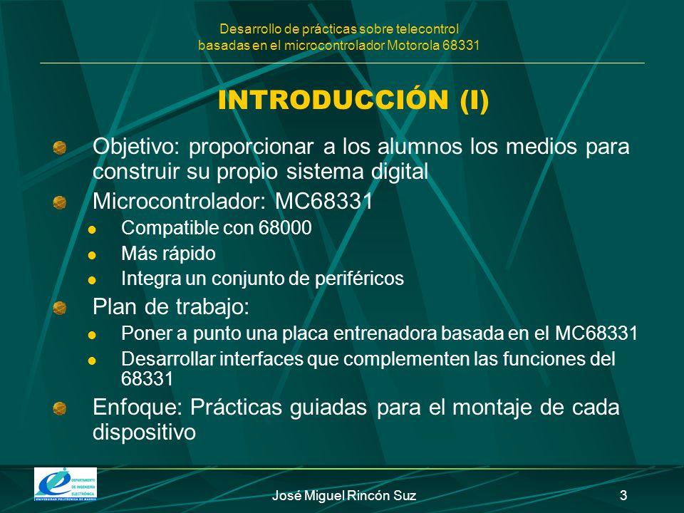 Desarrollo de prácticas sobre telecontrol basadas en el microcontrolador Motorola 68331