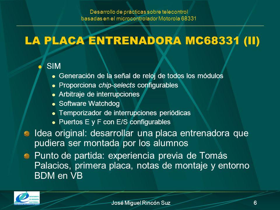 LA PLACA ENTRENADORA MC68331 (II)