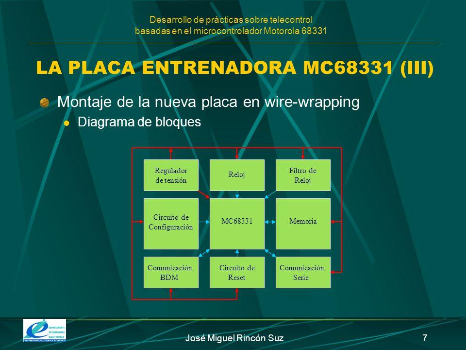 LA PLACA ENTRENADORA MC68331 (III)