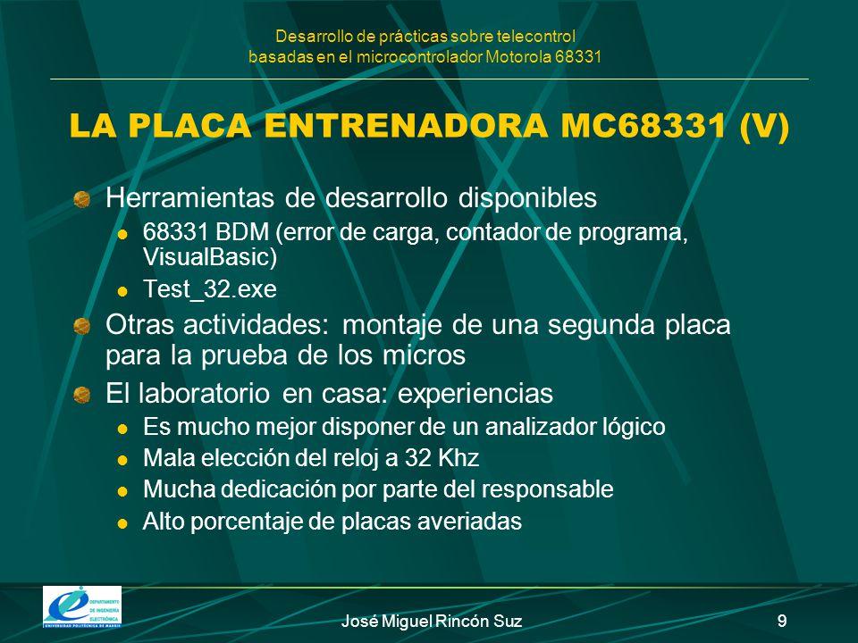 LA PLACA ENTRENADORA MC68331 (V)
