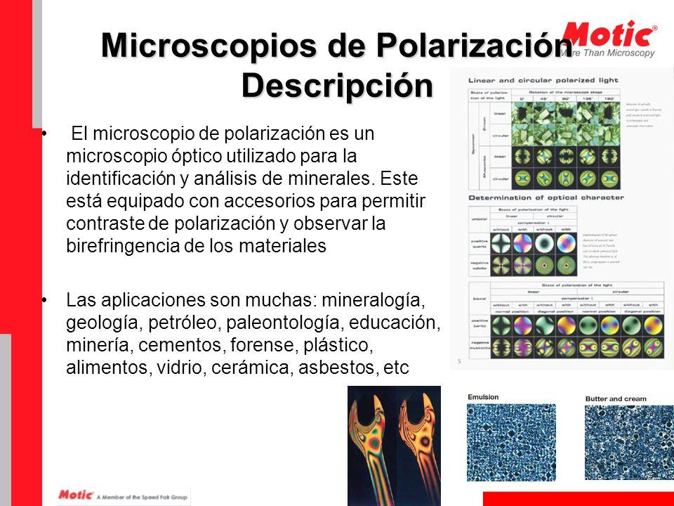 Microscopios de Polarización Descripción