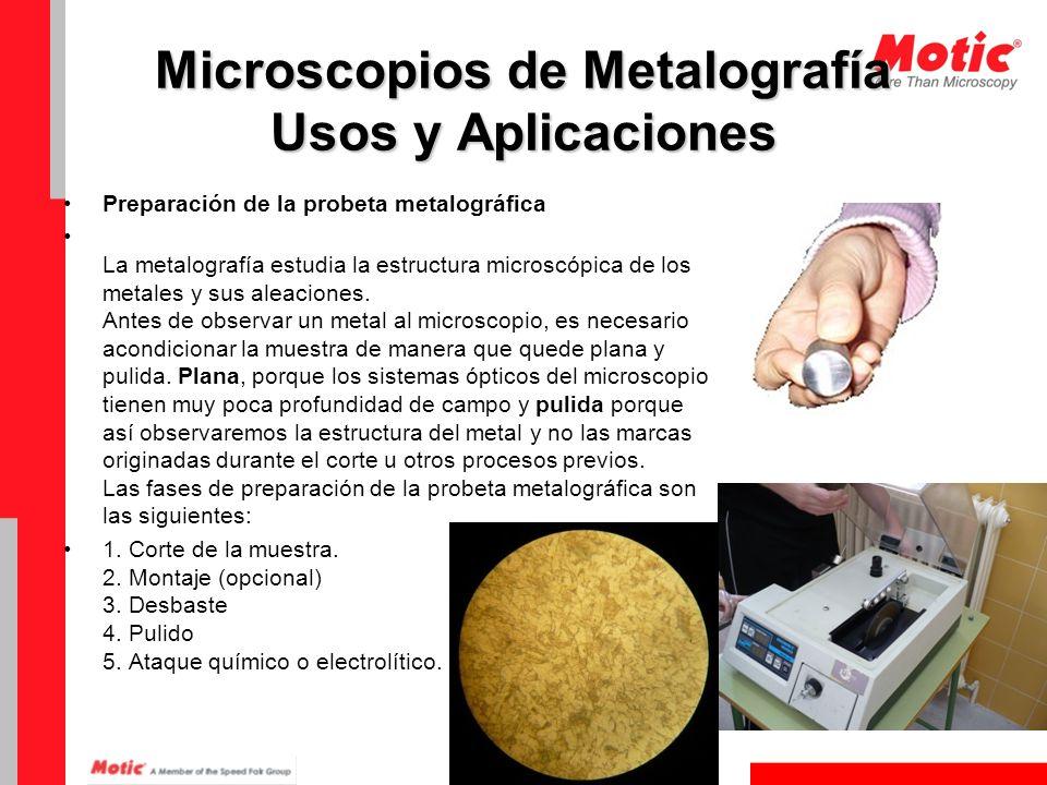 Microscopios de Metalografía Usos y Aplicaciones