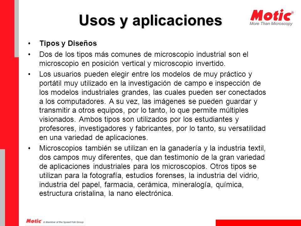 Usos y aplicaciones Tipos y Diseños