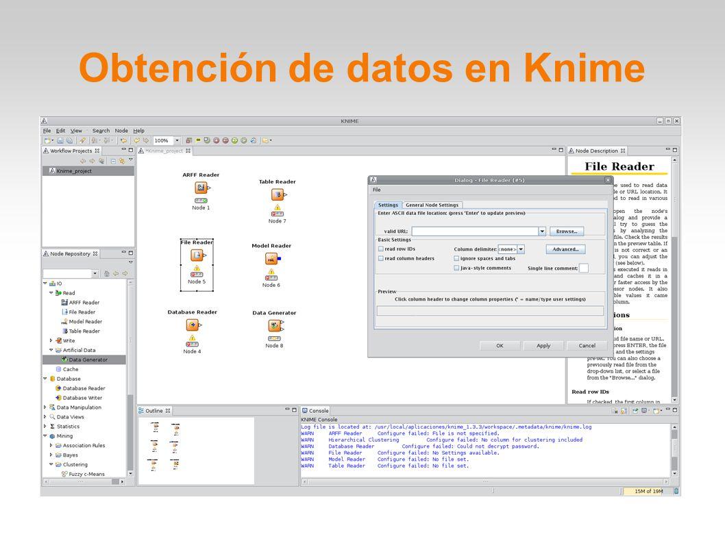 Obtención de datos en Knime