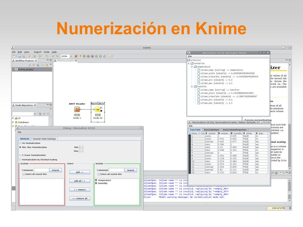 Numerización en Knime