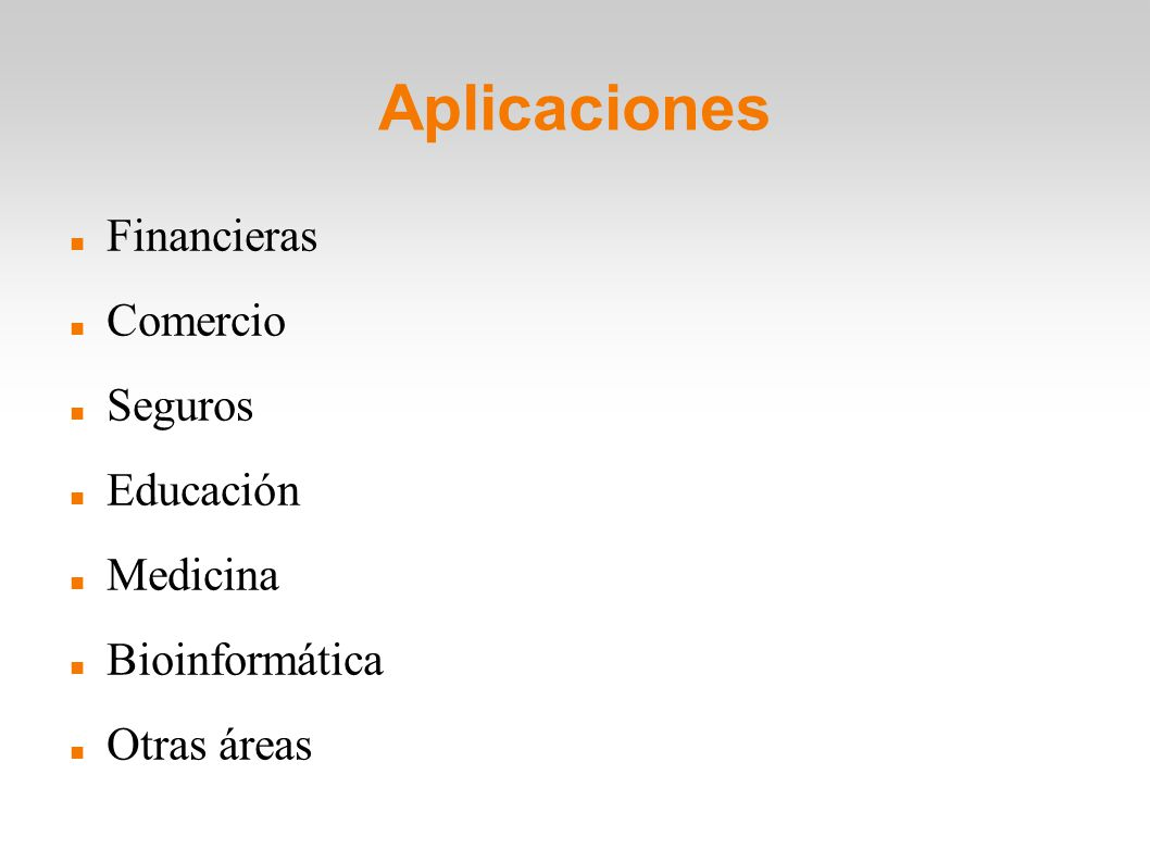 Aplicaciones Financieras Comercio Seguros Educación Medicina