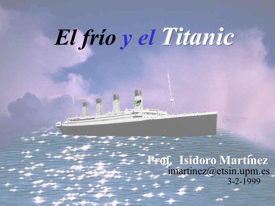 El frío y el Titanic Prof. Isidoro Martínez imartinez@etsin.upm.es