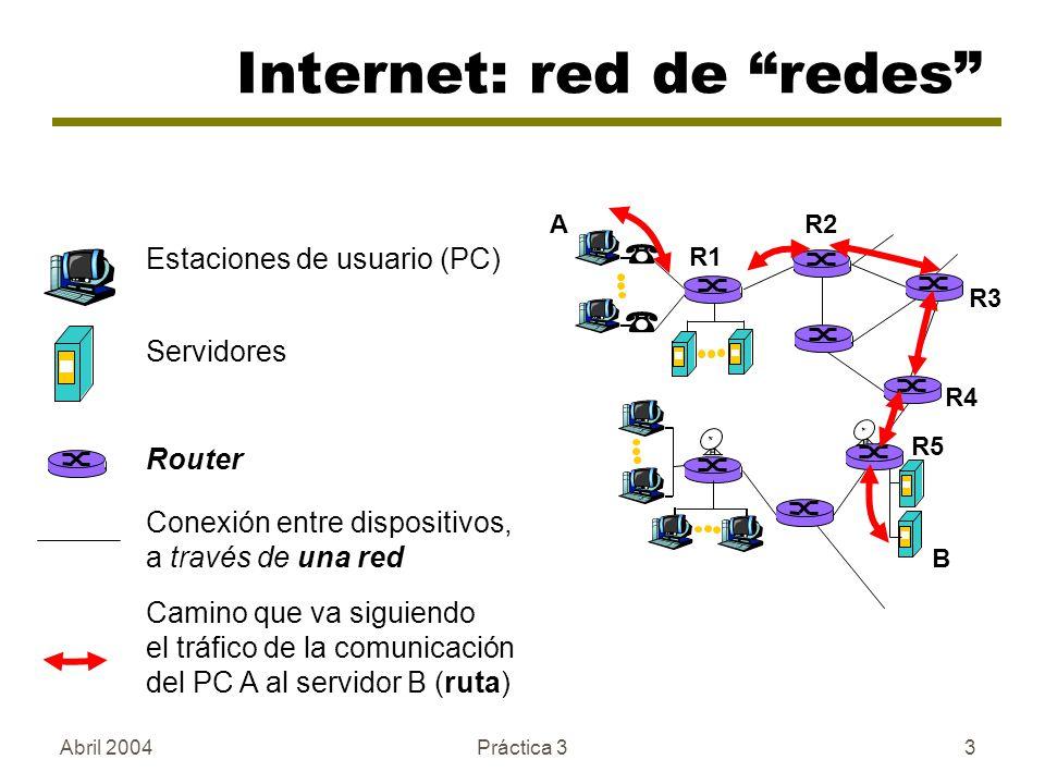 Internet: red de redes