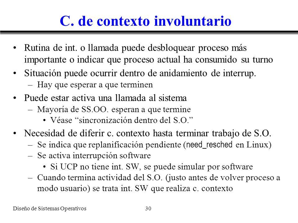 C. de contexto involuntario