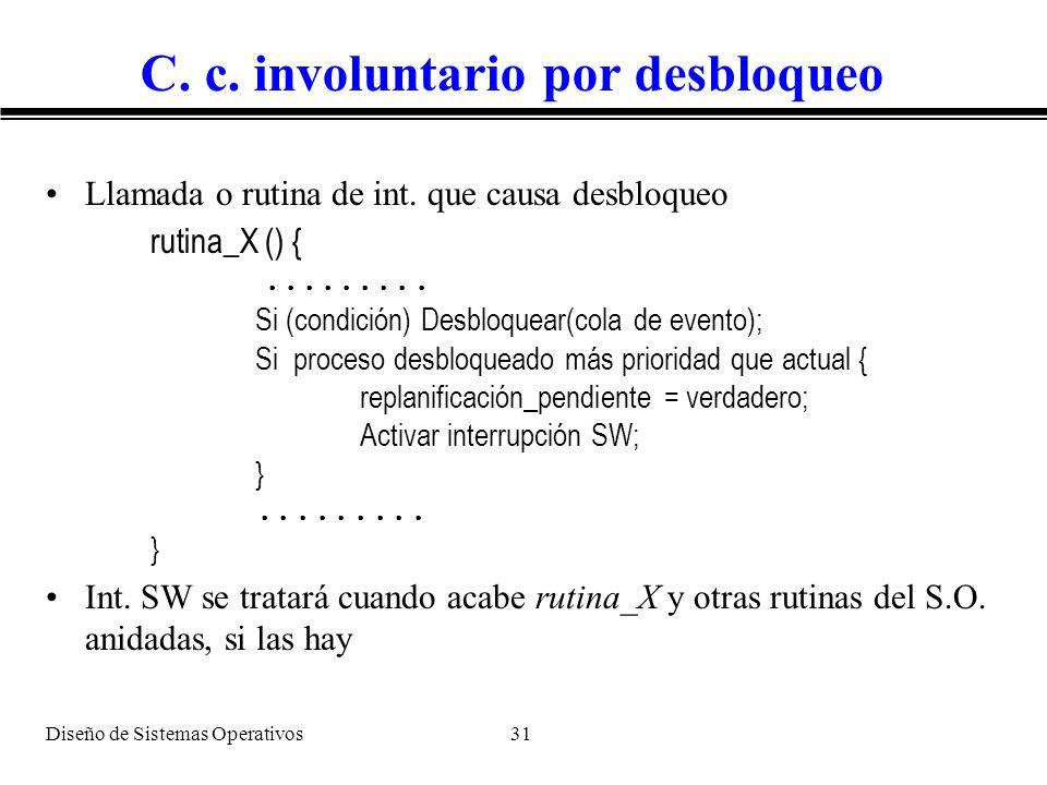 C. c. involuntario por desbloqueo