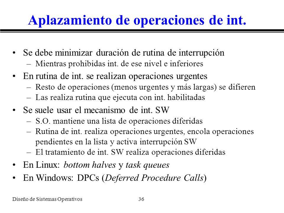 Aplazamiento de operaciones de int.