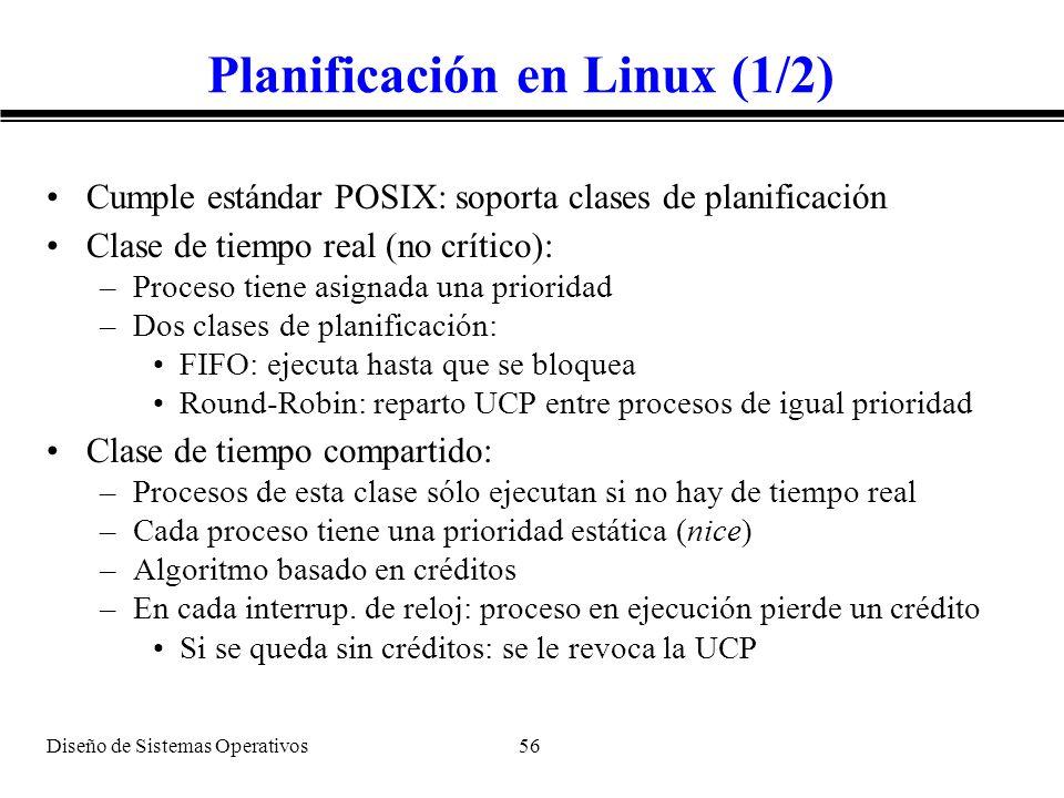 Planificación en Linux (1/2)