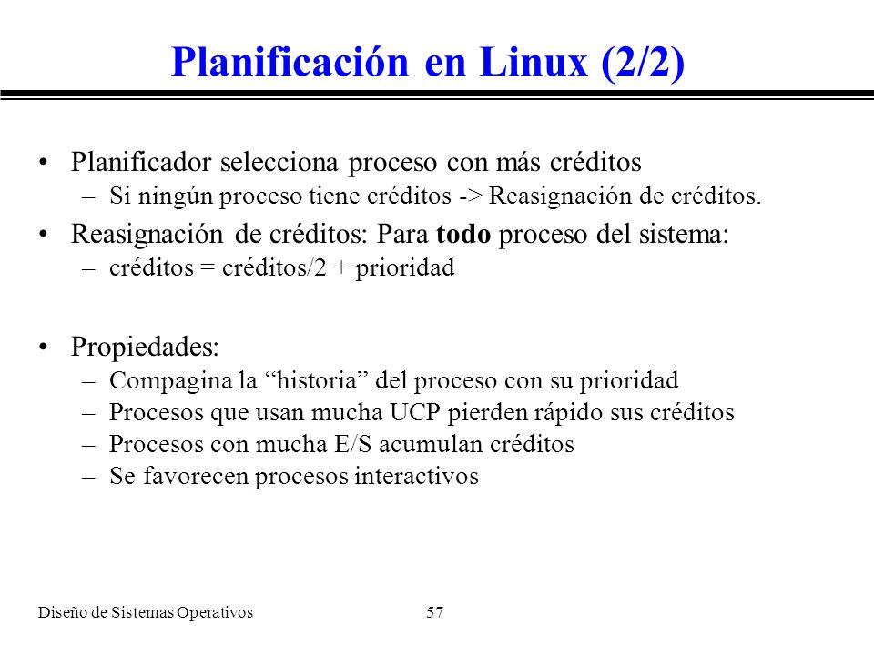 Planificación en Linux (2/2)