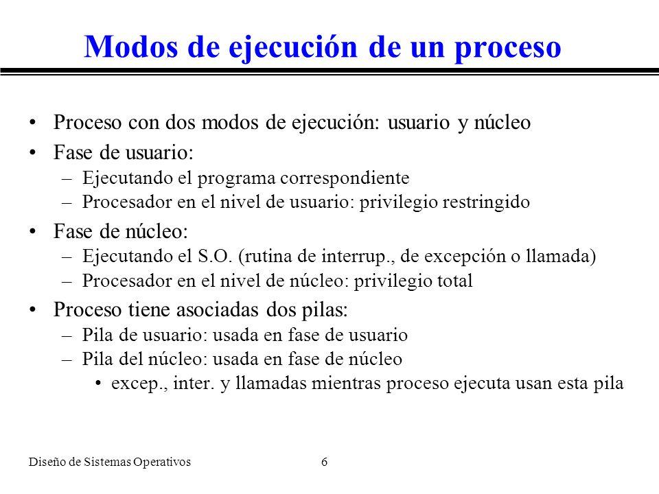 Modos de ejecución de un proceso