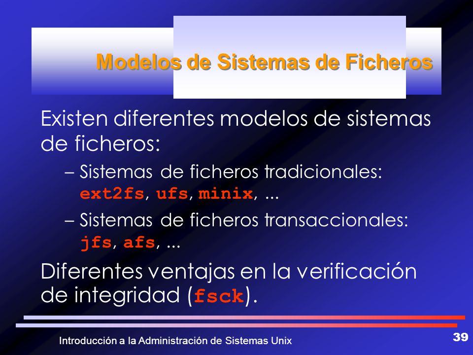 Modelos de Sistemas de Ficheros