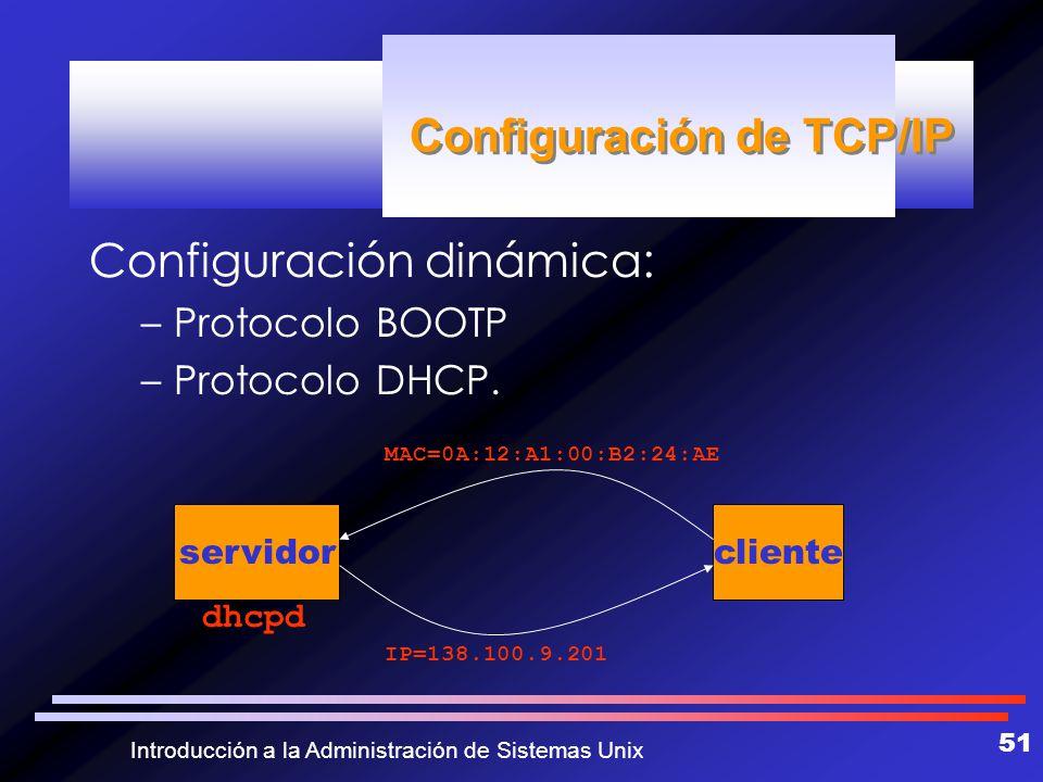 Configuración de TCP/IP