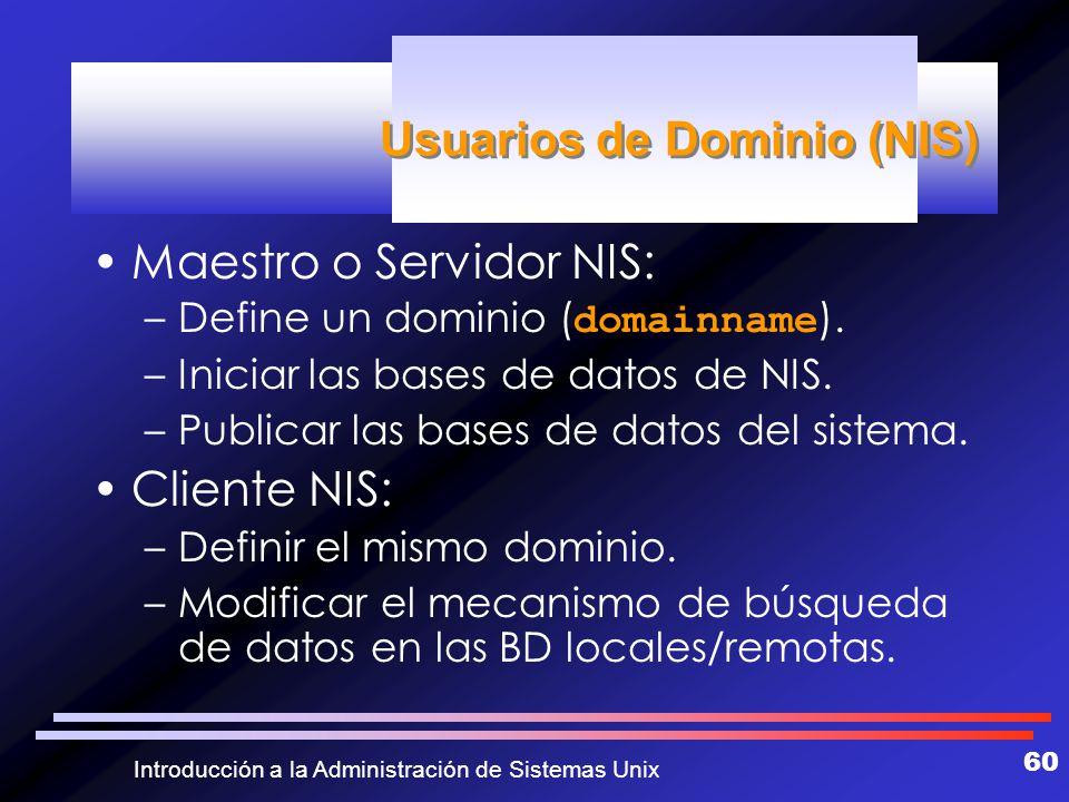 Usuarios de Dominio (NIS)
