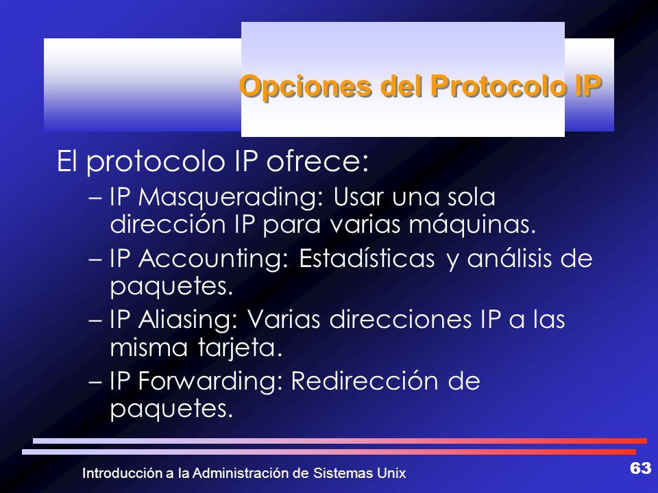 Opciones del Protocolo IP