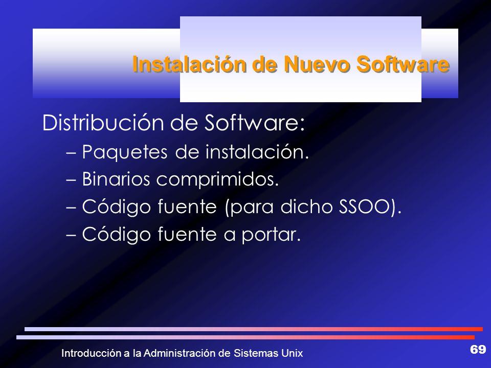 Instalación de Nuevo Software