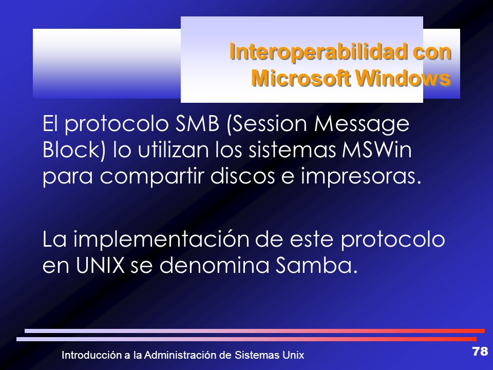 Interoperabilidad con Microsoft Windows