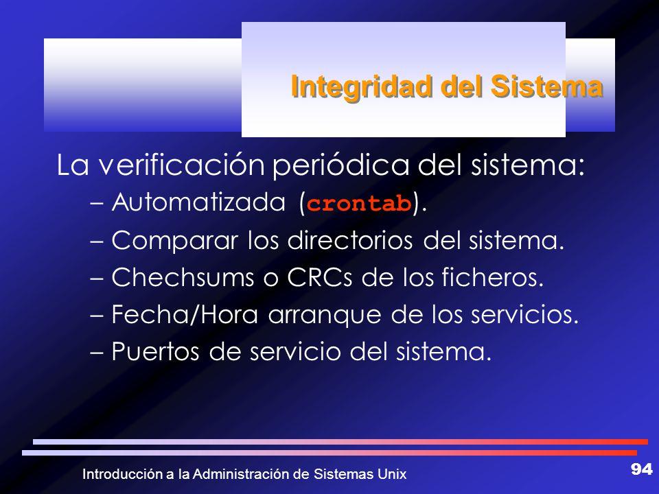 Integridad del Sistema