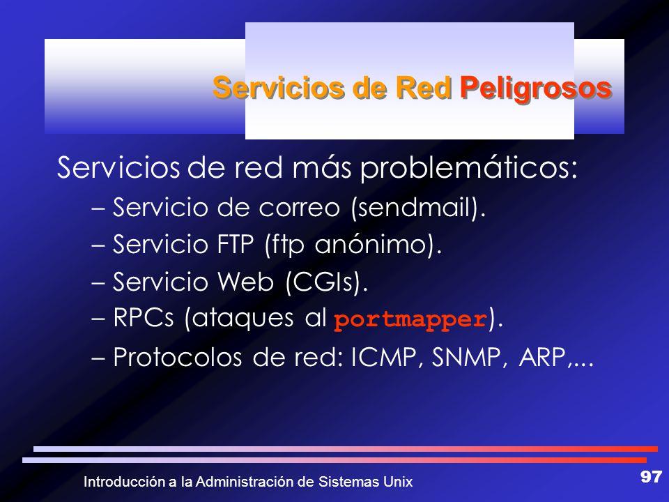 Servicios de Red Peligrosos