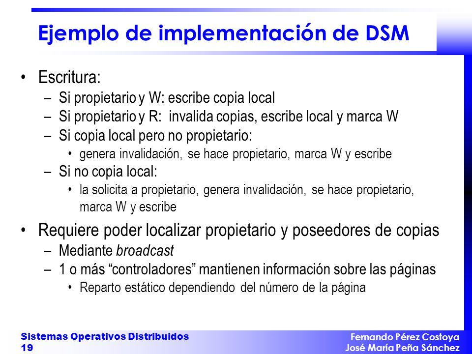 Ejemplo de implementación de DSM
