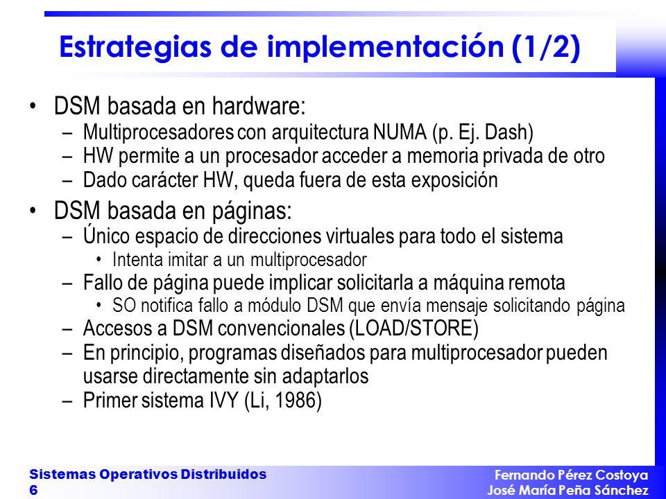 Estrategias de implementación (1/2)