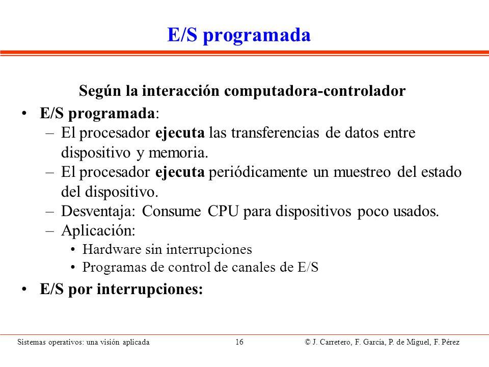 E/S por Interrupciones