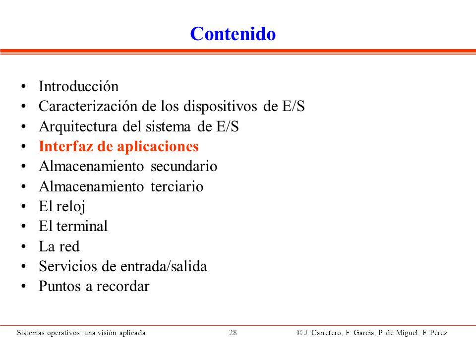Interfaz de E/S de las Aplicaciones