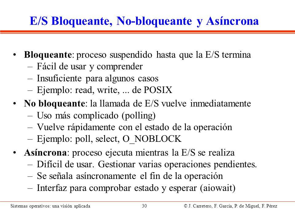 E/S Bloqueante y No-bloqueante (II)