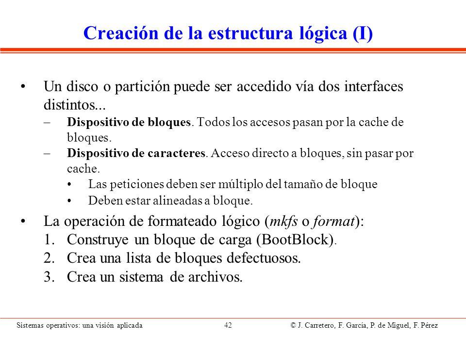 Creación de la estructura lógica (II)