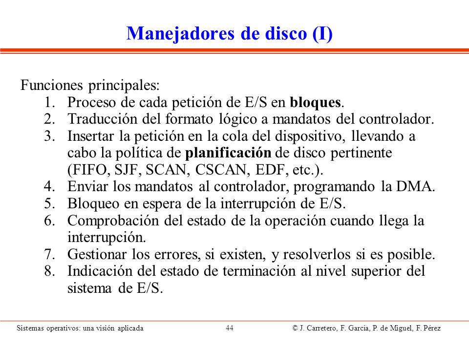 Manejadores de disco (II)