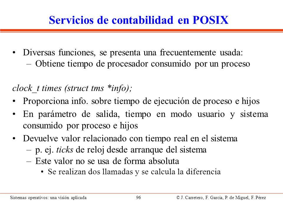 Servicios de E/S en POSIX