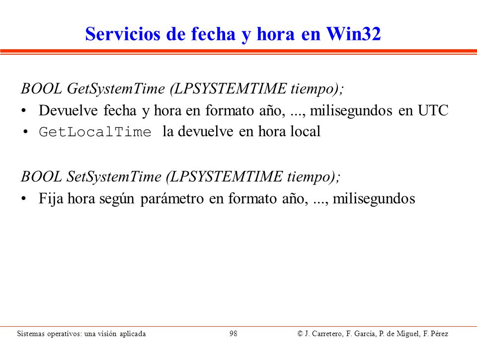 Servicios de temporización en Win32