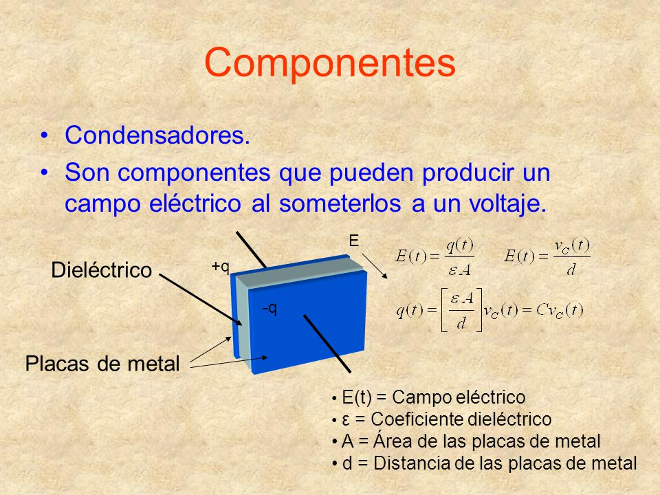 Componentes Condensadores.