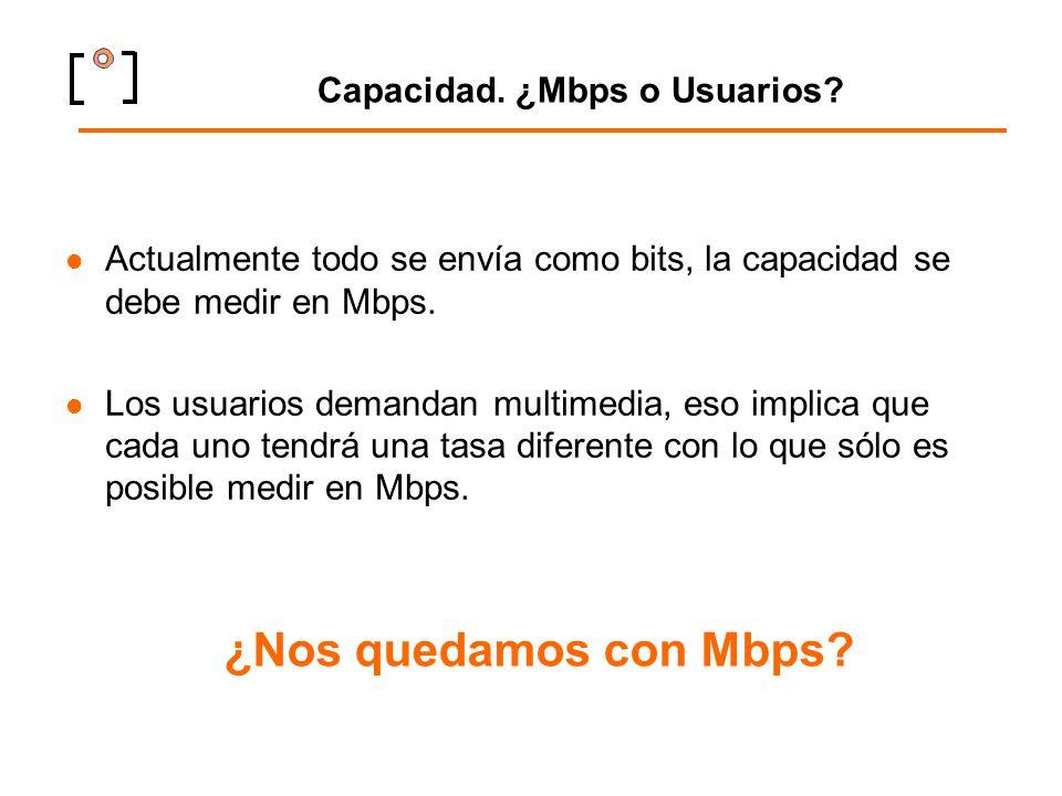 Capacidad. ¿Mbps o Usuarios