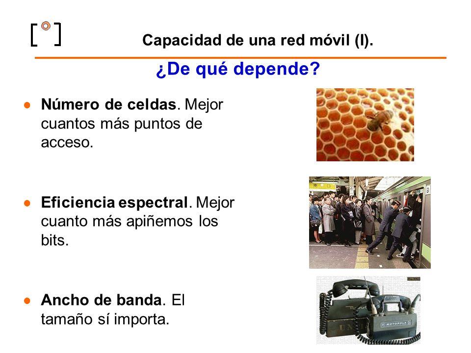 Capacidad de una red móvil (I).